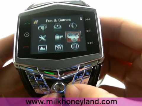 GD910 Ultra-thin Watch Mobile Phone + Keyboard