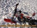 Dirt Bike neige glace : PitBoard  (pit bike - mini moto - mini MX) snow ice riding