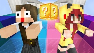 Minecraft: CORRIDA DE LUCKY BLOCK DO CASAL CRAFT