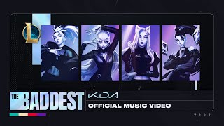 K/DA - THE BADDEST ft. (G)I-DLE, Bea Miller, Wolftyla ( Lyric Video) | League of Legends
