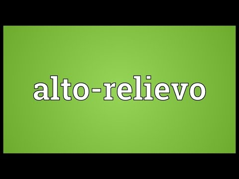 Header of alto-relievo