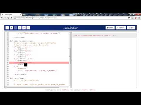 Python CodeSkulptor Errors Tutorial Part 1 of 2