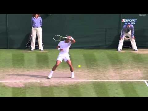 Trick Shot Nick Kyrgios vs Rafael Nadal Wimbledon 2014