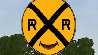 Talking Train Sign | Railroad Crossings Gates  | Train Safety | Lots & Lots of Trains