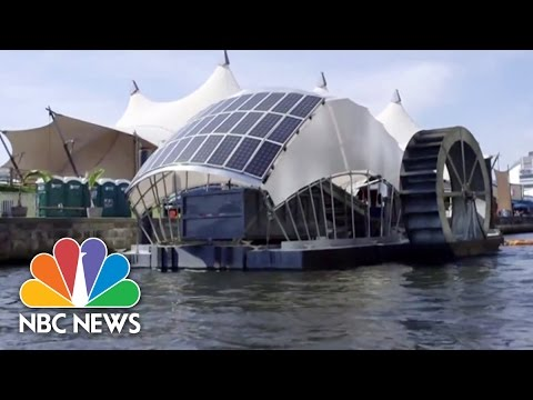 Solar-Powered Water Wheel Cleans Baltimore Harbor | NBC News