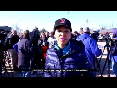 Governor Mary Fallin tours March 2015 Tornado damage