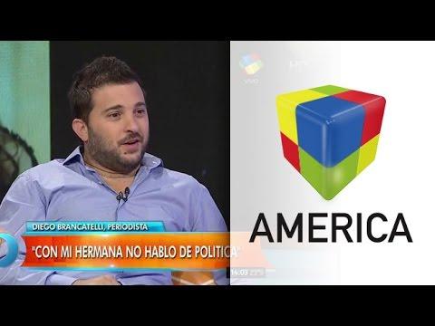 Diego Brancatelli en Intrusos: Mi hermana votó a Macri y es flor de gorila