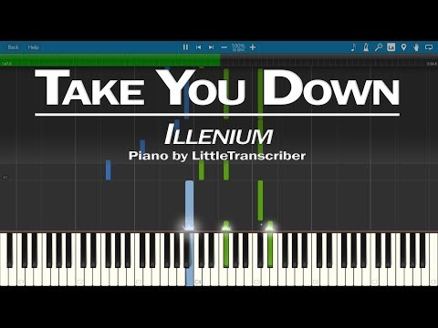 illenium - Take You Down (Piano Cover) Synthesia Tutorial by LittleTranscriber