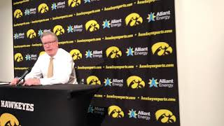 Fran McCaffery on a last-second chance that didn't work out against Maryland