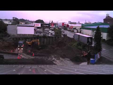 Hobson Hotel New Plymouth - Excavation Timelapse
