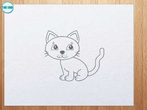 how to draw a kitten step by step easy