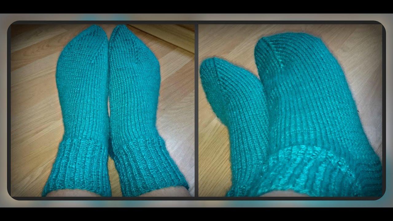 Мастер класс вязание носков на 2-х спицах 43