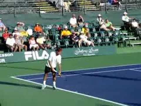 PLO 2008 - Arnaud Clement playing against Olivier Rochus Video