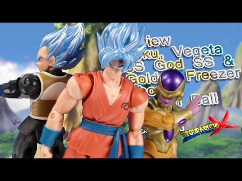 Review Goku Vegeta SS God SS & Golden Freezer Shodo Vol 2 Bandai Dragon Ball Super Analisis Español