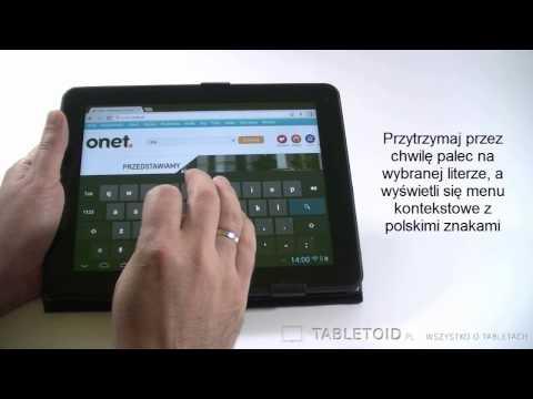 Jak wstawić polskie litery / znaki w systemie Android na tablecie