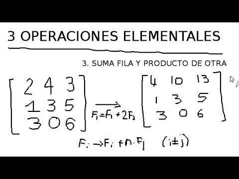 5. Operaciones elementales - Álgebra lineal y matrices