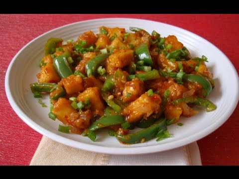 Recipe - Chilli Paneer Recipe With Engli 2d