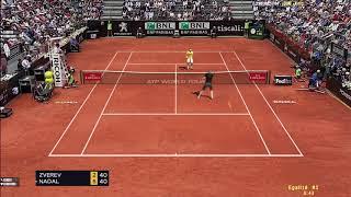 Tennis Elbow 2013   Masters 1000 Rome 2018   Nadal vs Zverev Highlights