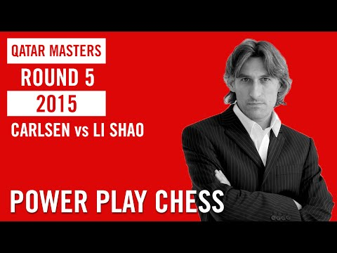 Qatar Master 2015 Round 5 Carlsen vs Li Chao