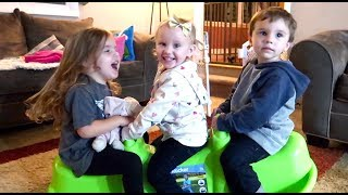 Twins Play Date With New Friend