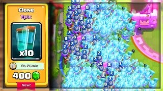 WHAT HAPPENS IF YOU MIRROR the CLONE SPELL in Clash Royale!?!?