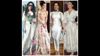 Stylish beautiful all white dresses//suit//latest white dress collection.