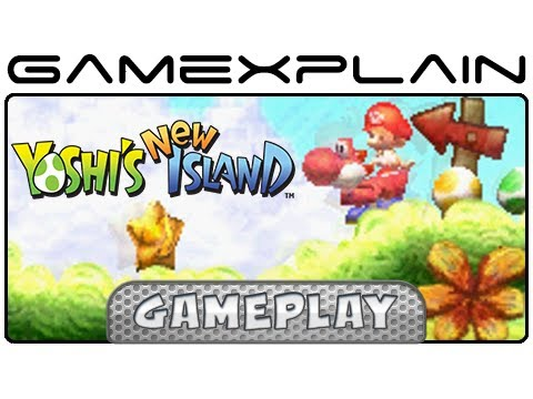 Yoshi's New Island - Super Yoshi Gameplay - World 1-7: Ground-Pound Rebound (3DS)