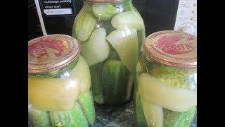 Огурцы с болгарским перцем и лимонной кислотой