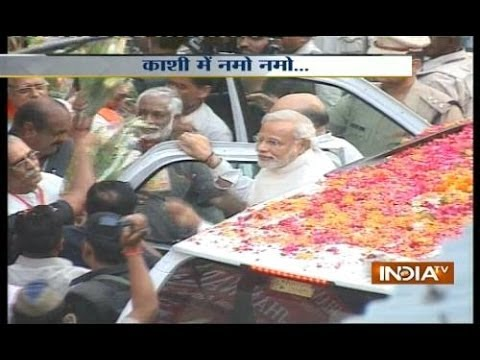 Live: Modi Along With Rajnath, Amit Shah Reaches Kashi Vishwanath Mandir video