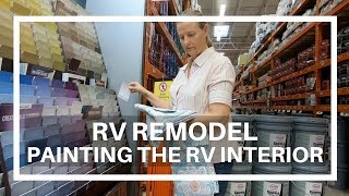 RV Remodel: RV Interior Painting Over Wallpaper
