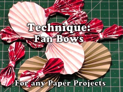 131.Technique: How to make Paper Fan Bows for your Crafts