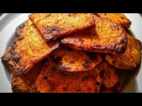 Yam roasted fry recipe| Elephant yam sliced fry recipe | Kandagadda fry