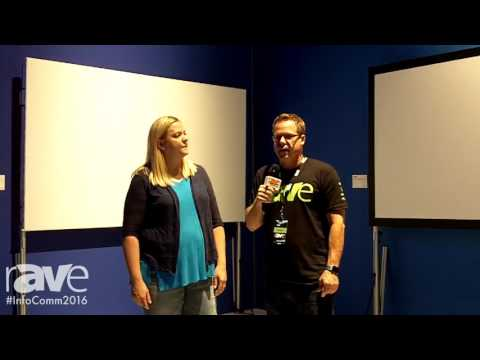 InfoComm 2016: Gary Kayye Interviews Wendy Cox About the Da-Lite Fast-Fold NXT