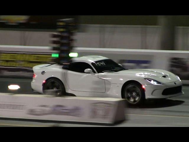 2014 SRT Viper Drag Racing 1/4 Mile Launch Control runs 11.5 @ 129.3 MPH