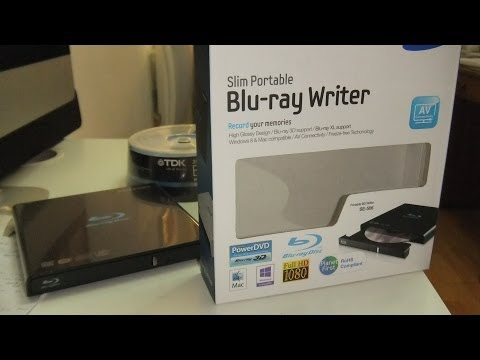 Unboxing de gravador de Bluray - Samsung Slim Retail