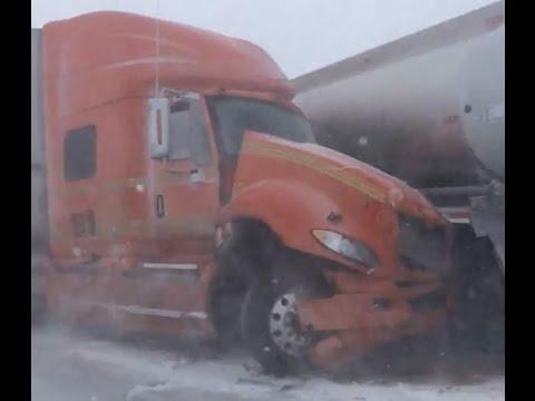 Winter storm on I-90