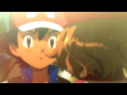 Pokemon XY & Z Episode Last episode Ash & Serena Kiss Scene~