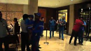 Indian Cricket Team After Winning World Cup 2011 at Taj Mumbai
