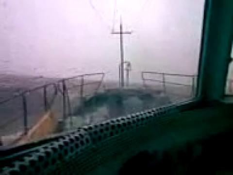 шторм в Обской губе. УГП-302. 2007год. Сафонов.