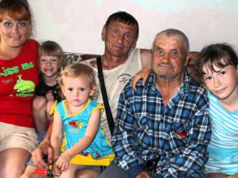 Многодетная красивая семья