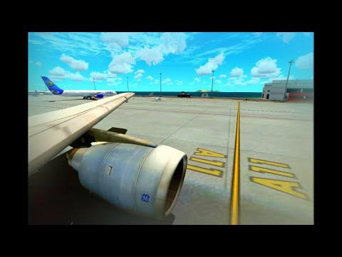 (HD) Flight Simulator X-Aerosoft Madeira X Landing-SimCheck A300-Core 2 Quad Q9400 OC to 3.3 Ghz