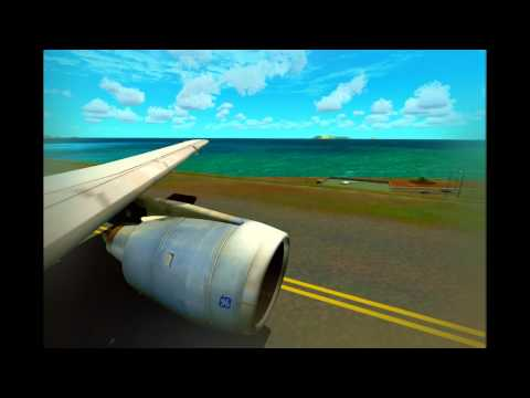 (HD) Flight Simulator X-Aerosoft Madeira X Landing-SimCheck A300-Core 2 Quad Q9400 OC to 3.3 Ghz