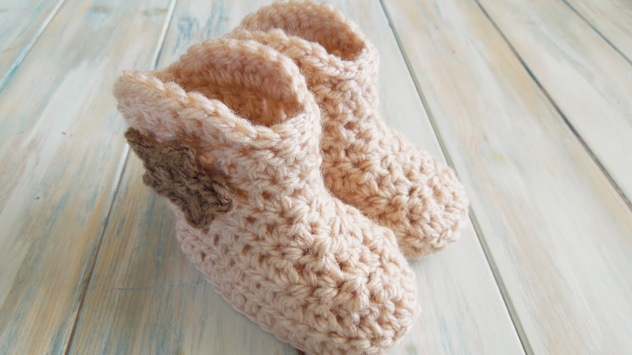 Free Crochet Patterns For Baby Girl Bonnets : (crochet) How To - Crochet Cowboy Baby Boots - Yarn Scrap ...