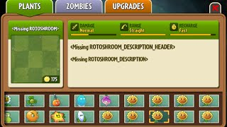 Roto-shroom - Scrapped Dark Ages Plant - Plants Vs. Zombies 2: It