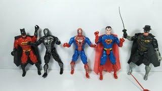 Bộ đồ chơi siêu anh hùng người nhện người dơi superman spiderman batman figure toy