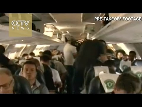 Colombia plane crash: Pre-takeoff video of Chapecoense released