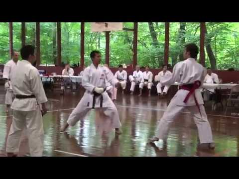 Shotokan Karate Master Camp 2011 Men's Black Belt Kumite video