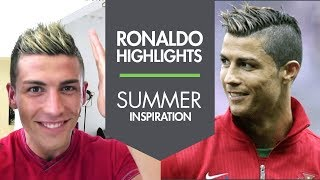 Cristiano Ronaldo new summer haircut with Highlights 2013 ★ Slikhaar Studio