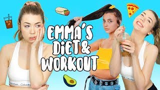 Trying Emma Chamberlain Diet & Workout For A Week!