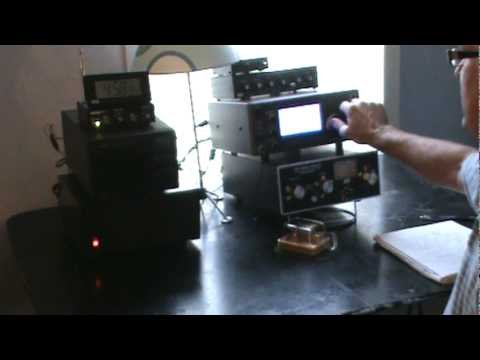 Here is a video of my home amateur radio station in operation.